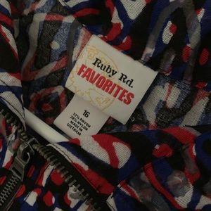 Ruby Rd. Jackets & Coats - Ruby Rd. Favorites Lightweight Artsy Jacket Sz 16